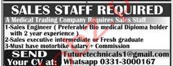 Medical Trading Company Jobs in Rawalpindi