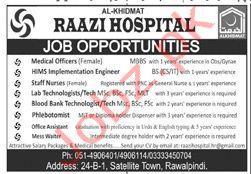 Alkhidmat Raazi Hospital Rawalpindi Jobs 2020