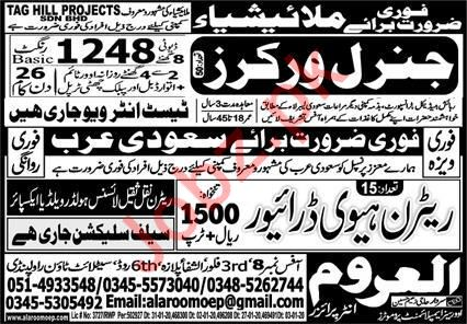 Taghill Projects SDN BHD Jobs 2020 For General Workers