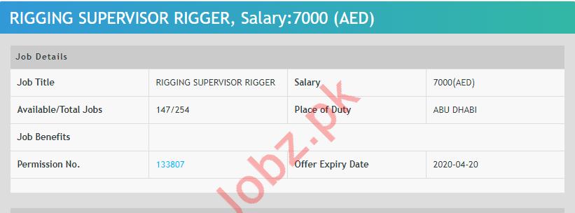 Rigging Supervisor Rigger Jobs 2020 in Abu Dhabi UAE