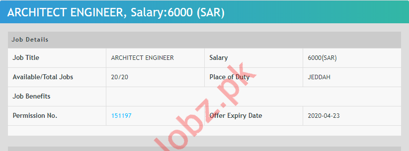 Architect Engineer & Quality Control Engineer Jobs 2020