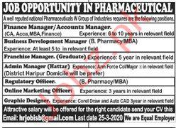National Pharma Group Jobs in Islamabad