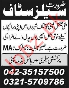 Multinational Company Jobs 2020 for Sales Staff