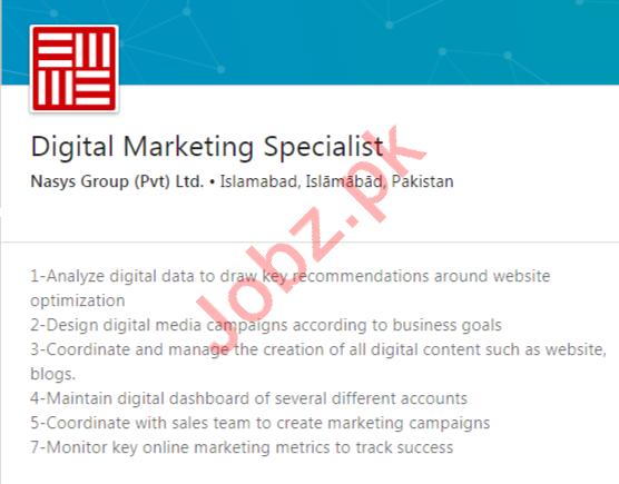 Nasys Group Islamabad Jobs 2020 Digital Marketing Specialist