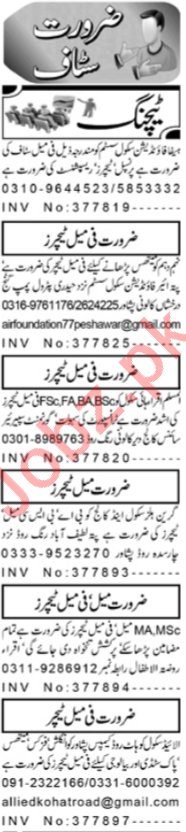 Daily Aaj Newspaper Classified Teaching Ads 2020