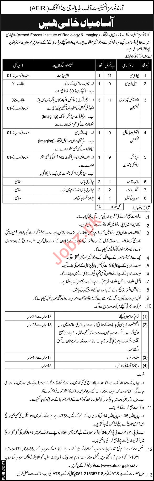 Armed Forces Institute of Radiology & Imaging Jobs via ATS