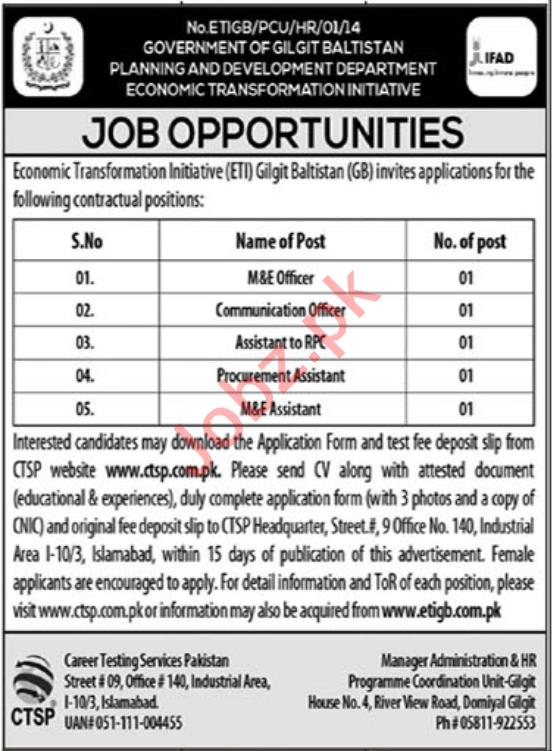 Planning & Development Department RTI Jobs 2020