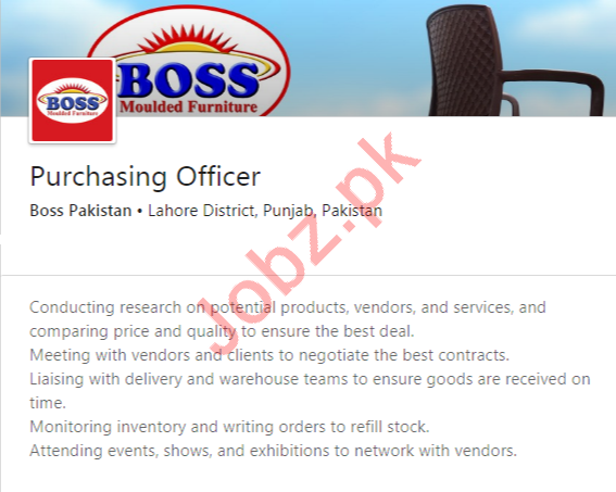Purchasing Officer Job 2020 in Lahore
