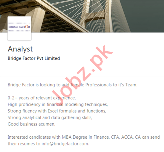 Analyst Job 2020 in Islamabad