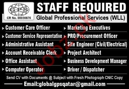 Global Professional Services WLL Management Jobs 2020
