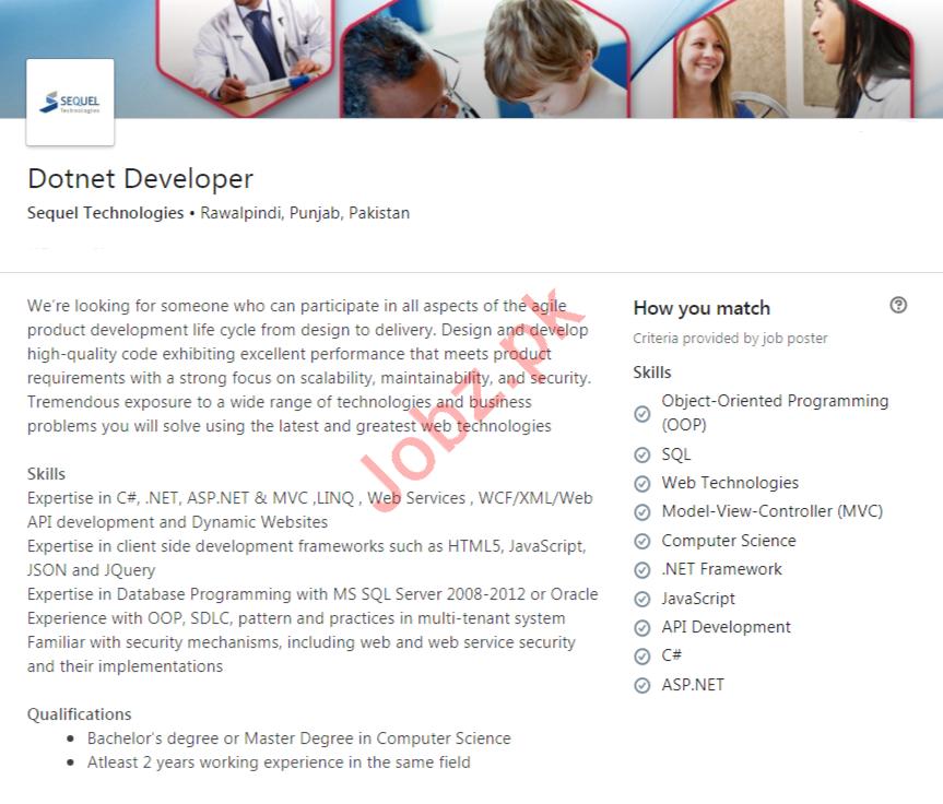 Dotent Developer Jobs in Sequl Technologies
