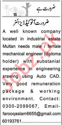 Auto CAD Designer Jobs 2020