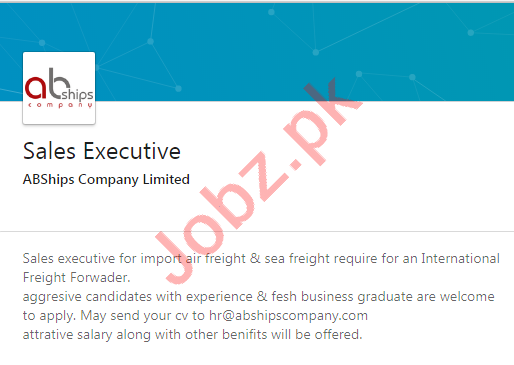 ABShips Company Karachi Jobs 2020 for Sales Executive
