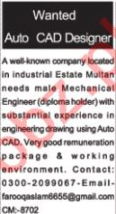 Auto CAD Designer Jobs Career Opportunity