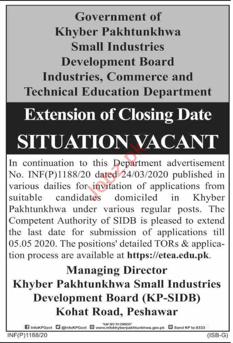 SIDB Small Industries Development Board Directors Jobs 2020