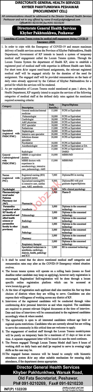 Medical Specialists & Paramedics Jobs 2020 Health Department