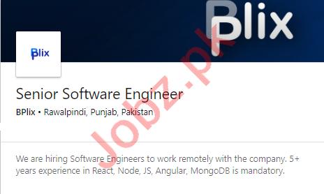 BPlix Rawalpindi Jobs 2020 for Senior Software Engineer