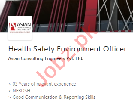 Asian Consulting Engineers Jobs 2020 Health Safety Officer