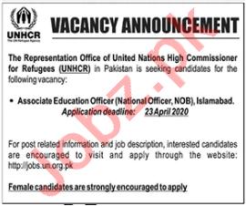 Associate Education Officer NGO Jobs 2020 in UNHCR