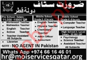 Engineering Staff & Teaching Staff Jobs 2020