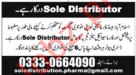 Sole Distributor Jobs Open in Pharmaceutical Company