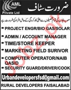 Account Manager & Store Keeper Jobs 2020 in Faisalabad