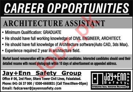 Architecture Assistant Jobs 2020 in Jay Enn Safety Group