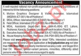 GD Pakistan Jobs 2020 for Graphic Designer & Meal Officer
