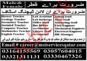 Management Staff & Educational Staff Jobs 2020