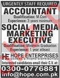 Accountant & Social Media Marketing Executive Jobs 2020