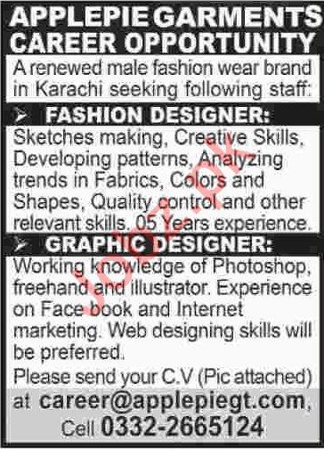 Fashion Designer & Graphic Designer Jobs 2020