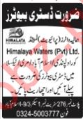 Himalaya Waters Islamabad Jobs 2020 for Distributors