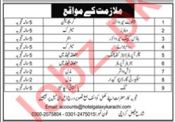 Hotel Galaxy Karachi Jobs 2020 for Supervisors & Waiters