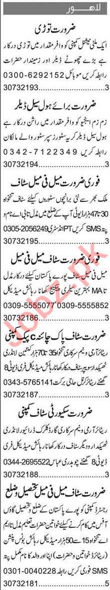 Sales Officer & Admin Officer Jobs 2020 in Lahore