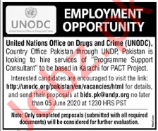 Programme Support Consultant Jobs 2020 in UNODC
