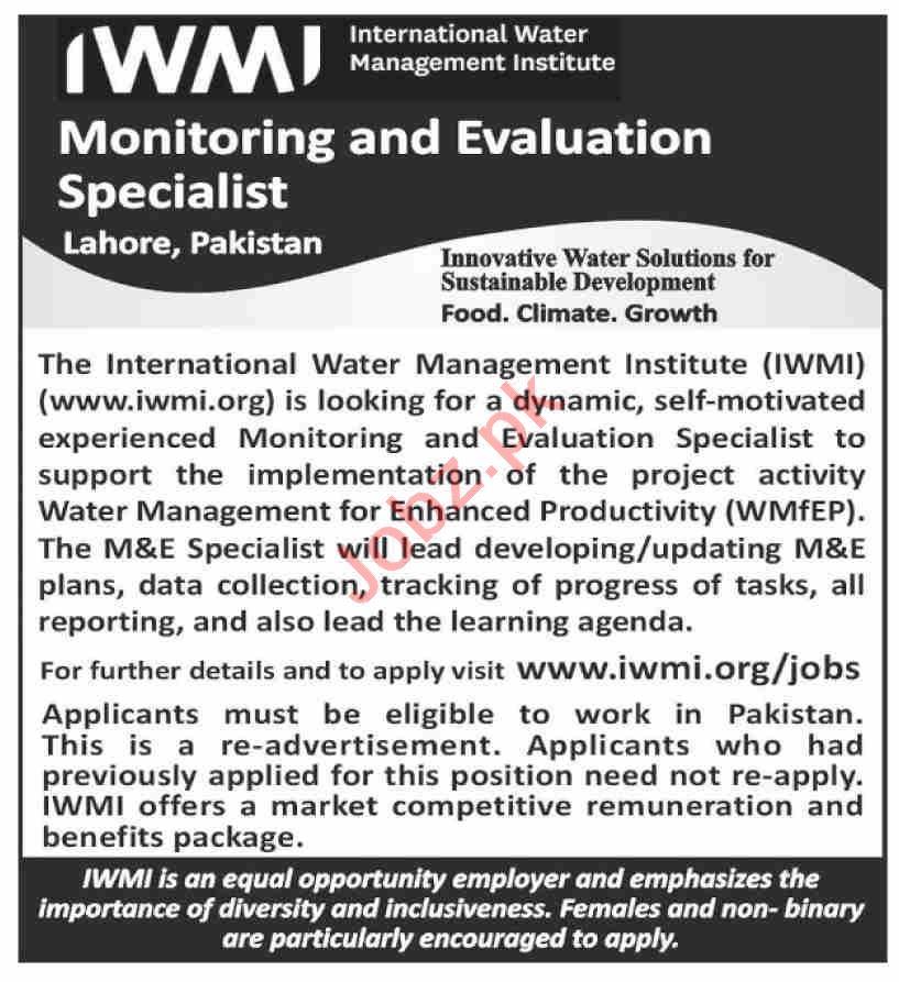 International Water Management Institute IWMI Jobs 2020