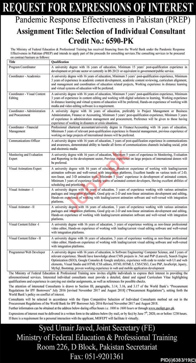 Pandemic Response Effectiveness in Pakistan Consultant Jobs