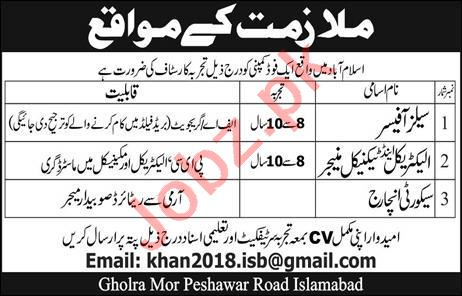 Electrical Manager & Technical Manager Jobs 2020