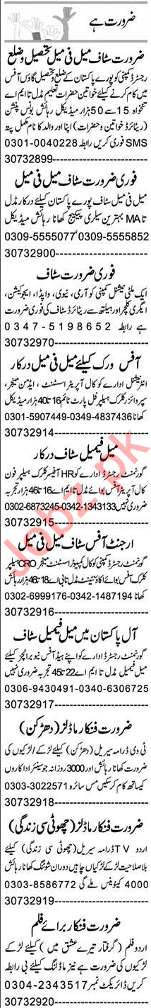 Accounts Manager & Secretary Jobs 2020 in Lahore
