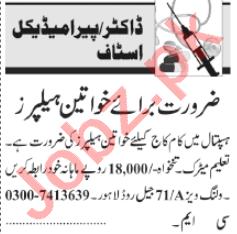 Female Helpers Jobs 2020 in Lahore