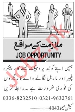 Carpenter & Marble Fixer Jobs 2020 in Karachi