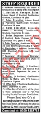 Style Styrofoam Industry Lahore Jobs 2020 Manager Sales