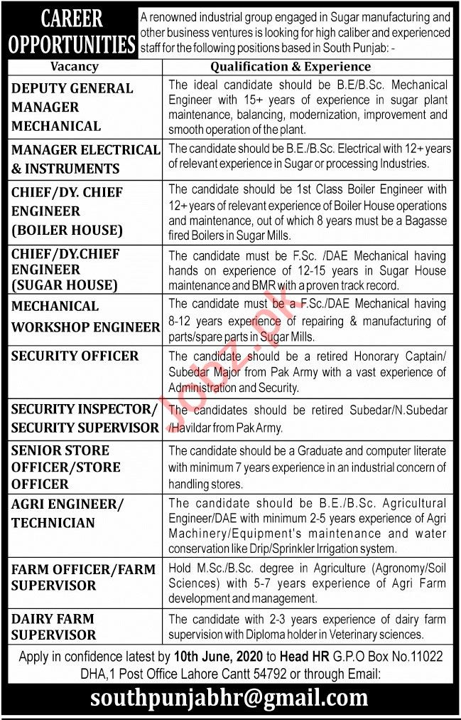 Deputy General Manager Mechanical & Manager Electrical Jobs
