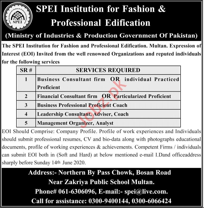 SPEI Institution For Fashion & Professional Edification Jobs
