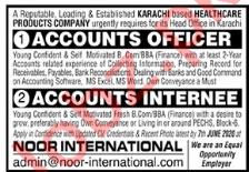 Accounts Officer Jobs 2020 in Noor International