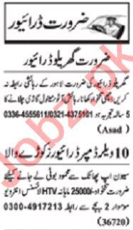 Nawaiwaqt Sunday Classified Ads 31st May 2020 Driving Staff