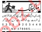 Marketing Staff Jobs 2020 in CNG Station Peshawar