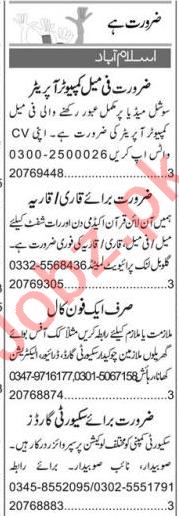 Computer Operator & Quran Teacher Jobs 2020