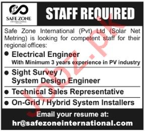 Safe Zone International Peshawar Jobs 2020 for Engineers
