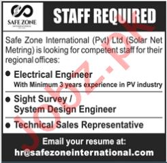 Safe Zone International Jobs 2020 for Engineers & Technician